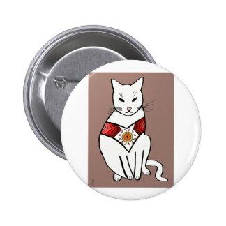 Cat with Aztec Design Pins