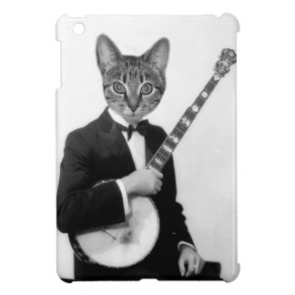 Cat with Banjo Cover For The iPad Mini