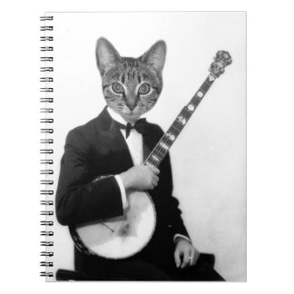 Cat with Banjo Notebooks