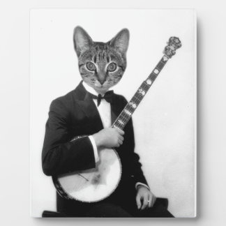 Cat with Banjo Plaque