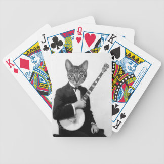 Cat with Banjo Poker Deck
