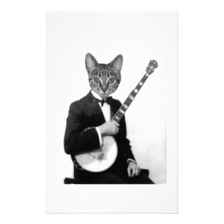 Cat with Banjo Stationery
