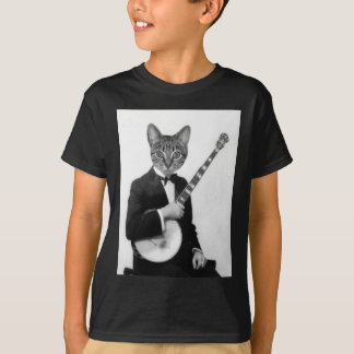 Cat with Banjo T-Shirt
