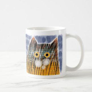 Cat with big yellow eyes mug