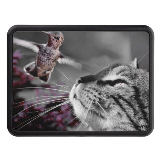 Cat with Bird Trailer Hitch Cover