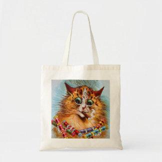 Cat with Cigar - Louis Wain Cats Tote Bag