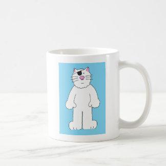 Cat with eye patch on, get well soon, eye surgery. coffee mug