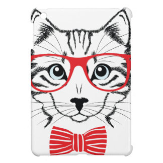 cat with glasses cover for the iPad mini