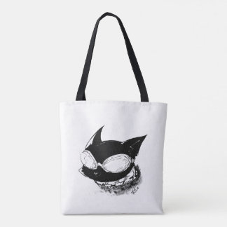 Cat with Goggles Logo Tote