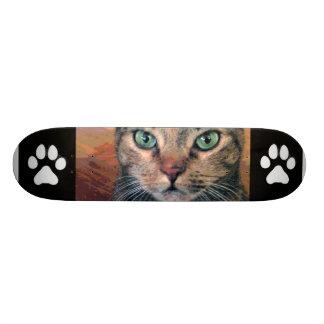 Cat with Green Eyes Skateboard Decks