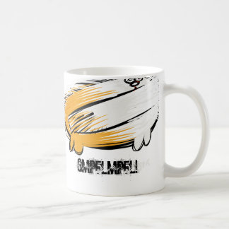 cat with it's tail on backwards mugs