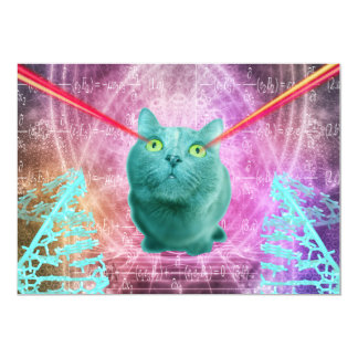 Cat with laser eyes card