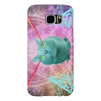 Cat with laser eyes samsung galaxy s6 cases