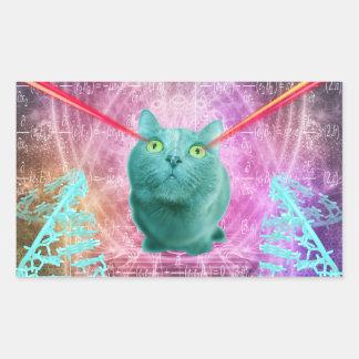 Cat with laser eyes sticker