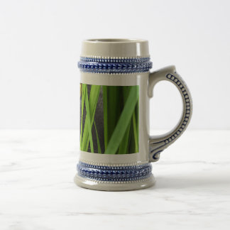 Cat with Leaf and Special Eyes Beer Stein