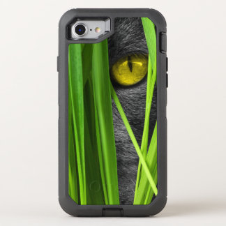 Cat with Leaf and Special Eyes OtterBox Defender iPhone 7 Case