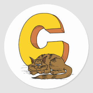 Letter c stickers letter c custom sticker designs for Letter c stickers