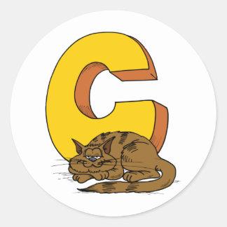 Letter c stickers letter c custom sticker designs for Letter c stickers