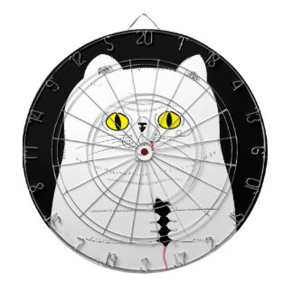 Cat With Mouse Funny Drawing Dartboard
