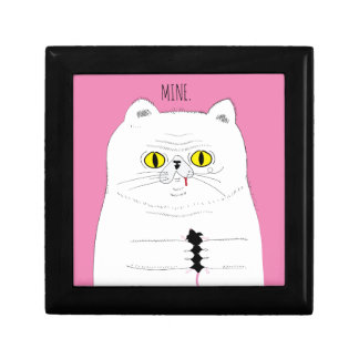 Cat With Mouse Funny Drawing Gift Box