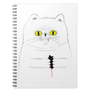 Cat With Mouse Funny Drawing Notebook