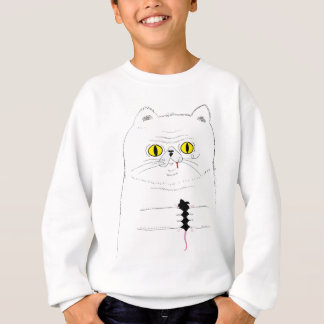 Cat With Mouse Funny Drawing Sweatshirt
