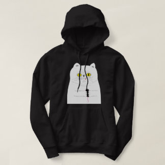 Cat With Mouse Funny Graphic Black Hoodie