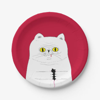 Cat With Mouse Paper Plates