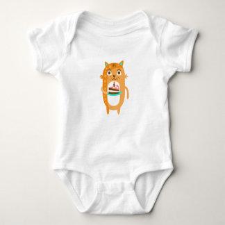 Cat With Party Attributes Girly Stylized Funky Sti Baby Bodysuit
