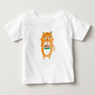 Cat With Party Attributes Girly Stylized Funky Sti Baby T-Shirt
