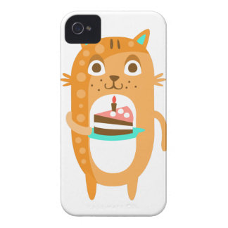 Cat With Party Attributes Girly Stylized Funky Sti iPhone 4 Covers