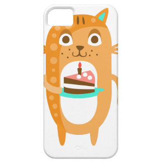 Cat With Party Attributes Girly Stylized Funky Sti iPhone 5 Case