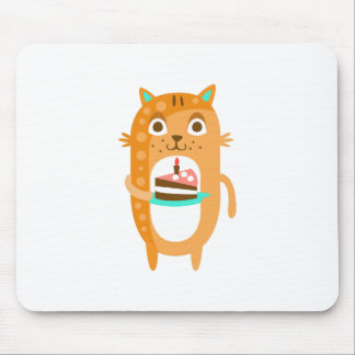 Cat With Party Attributes Girly Stylized Funky Sti Mouse Pad