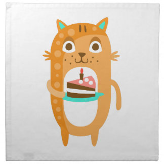 Cat With Party Attributes Girly Stylized Funky Sti Napkin