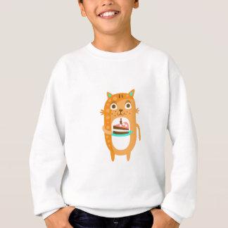 Cat With Party Attributes Girly Stylized Funky Sti Sweatshirt