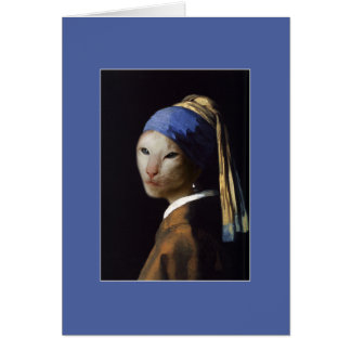 Cat with the Pearl Earring Card
