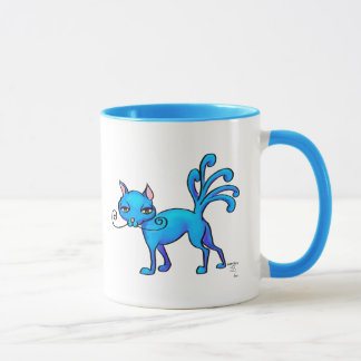 Cat with twitching tail mug