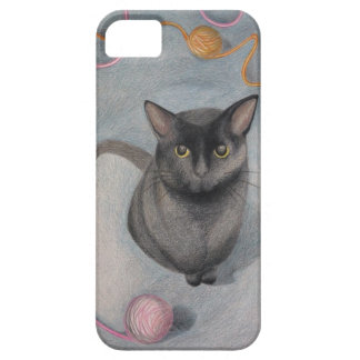 Cat with Yarn iPhone case