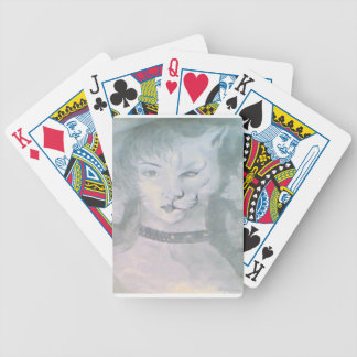 Cat Woman Bicycle Playing Cards