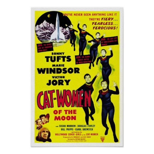 """Cat Women of the Moon"" Poster"