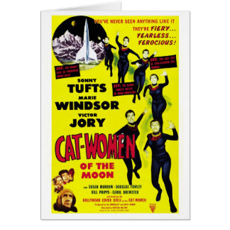 """Cat Women on the Moon"" Card"