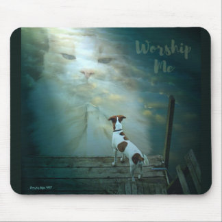 Cat Worship Mouse Pad