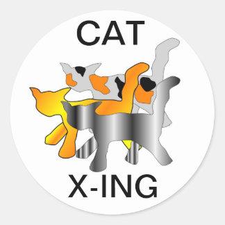 CAT X-ING STICKERS