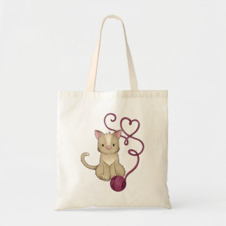 cat yarn club tote bag