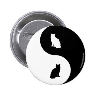 Cat Yin Yang Pins