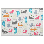Cat Yoga Fabric