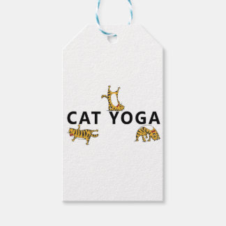 cat yoga gift tags