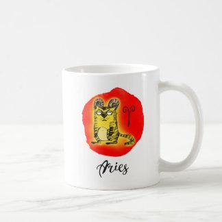Cat Zodiac, Aries The Ram Mug w/Quote