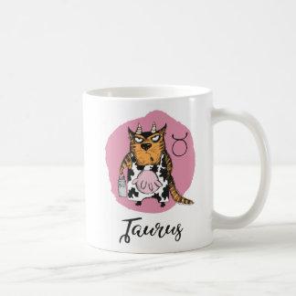 Cat Zodiac, Taurus Mug w/Quote