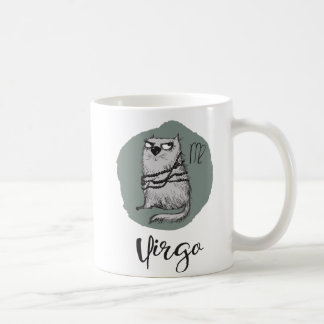 Cat Zodiac, Virgo Mug w/Quote
